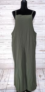 Imayondia Olive Green Loose Fit Jumpsuit